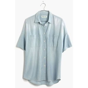 madewell chambray courier shirt in bruce wash